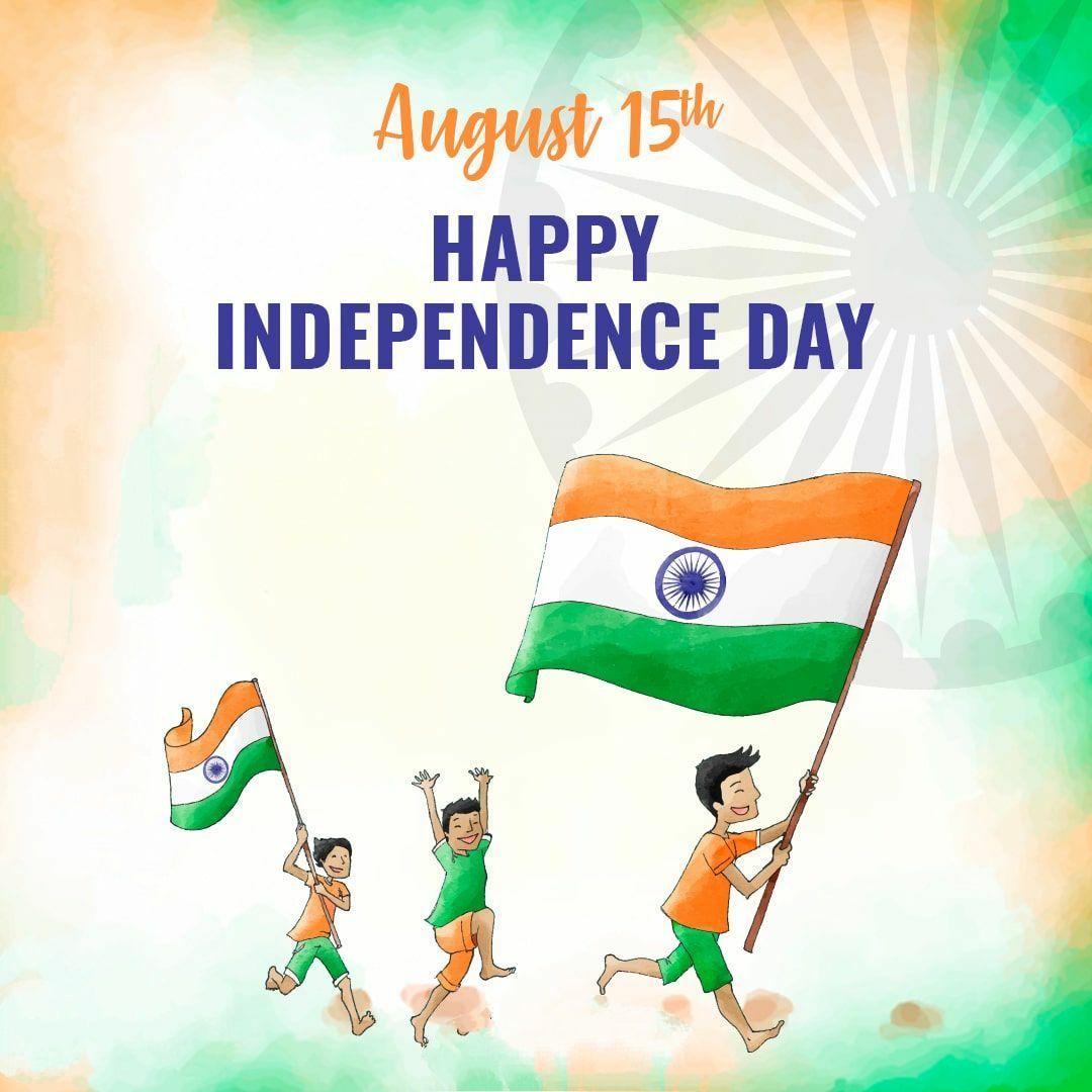 independence day image children celebrating