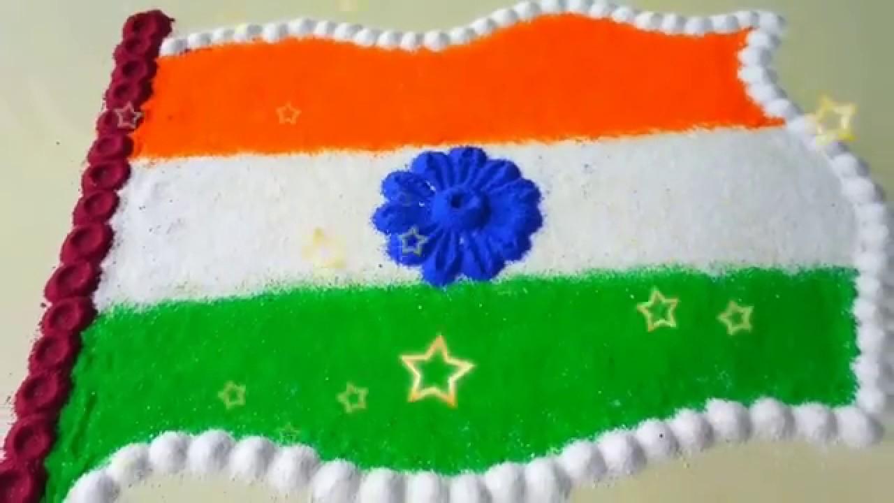 independence day rangoli 2021
