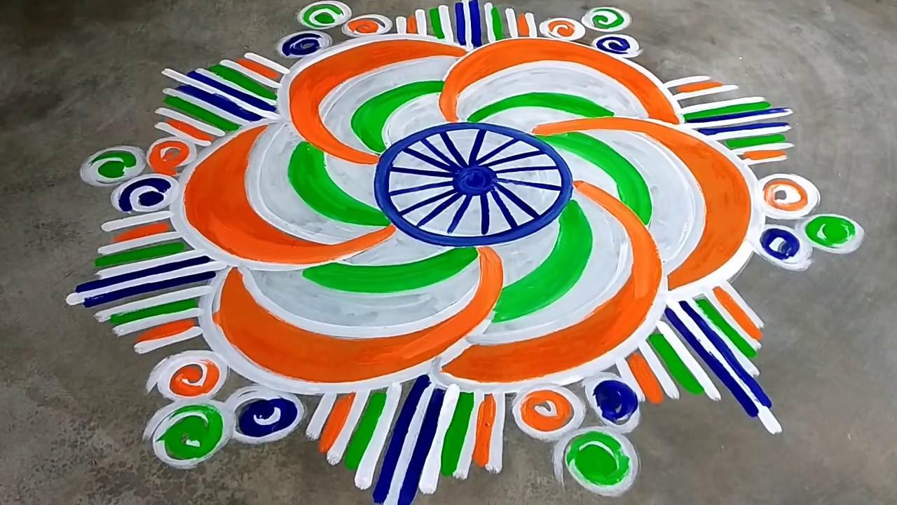 independence day rangoli hd