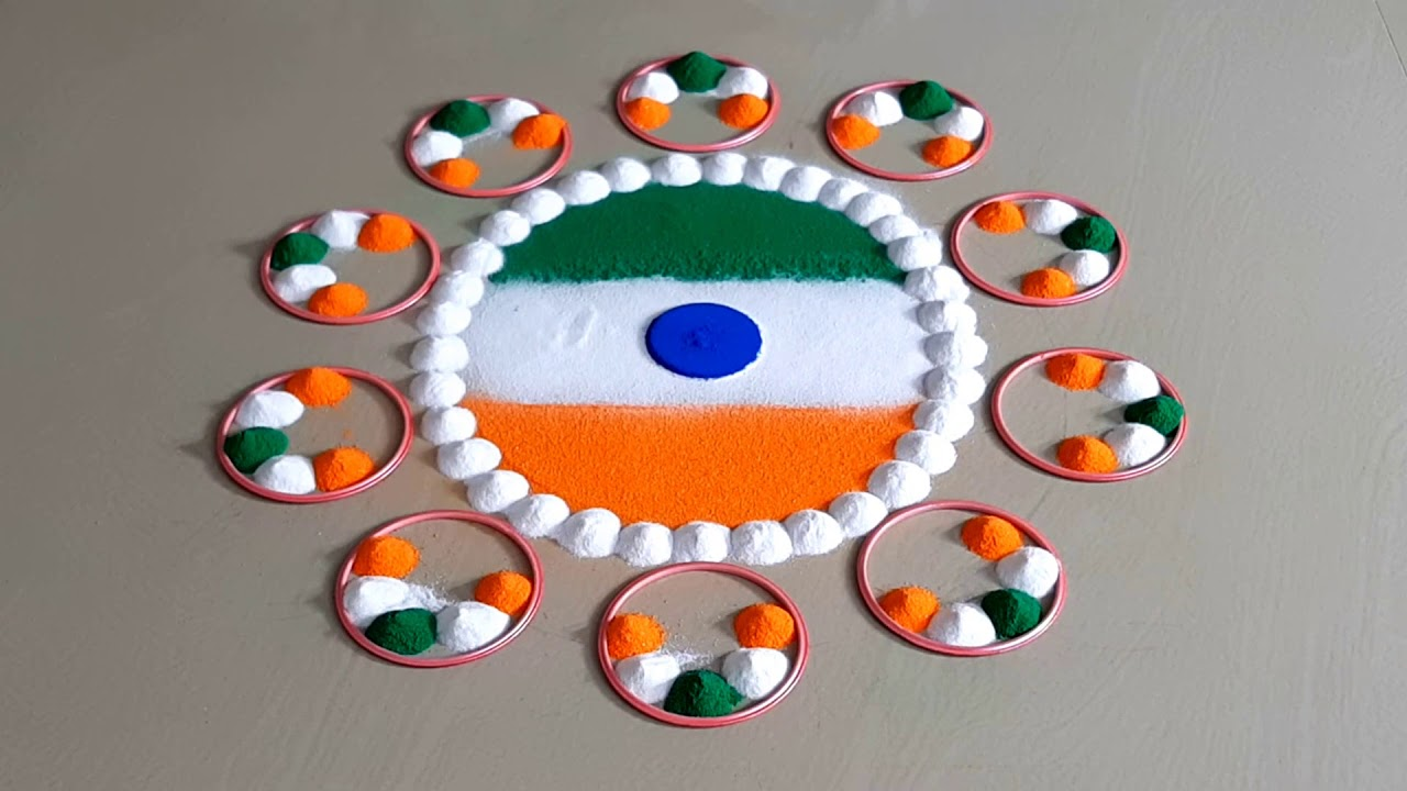 independence day simple rangoli